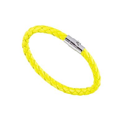 voordelige Herensieraden-Heren Dames Bangles Magnetisch Eenvoudig Modieus Stevig Leder Armband sieraden Groen / Blauw / Roze Voor Lahja Dagelijks