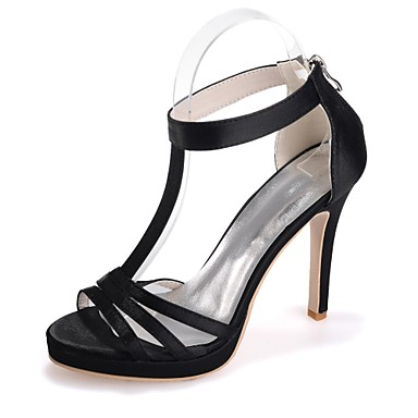 Talon Satin Rouge Aiguille Printemps Bout Sandales Eté Femme Basique Escarpin Champagne Ivoire Chaussures ouvert 06421707 51HCq5xw0