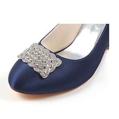 Automne Basique Femme rond semelle Chaussures Printemps de Chaussures Cristal de Hauteur Bout Elastique 06426619 Satin Escarpin mariage compensée wrRxIrZYq
