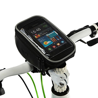 ROSWHEEL Bike Handlebar Bag Cell Phone Bag 5.0 inch Touch Screen Multifunctional Cycling for Samsung Galaxy S6 iPhone 5C iPhone 4/4S LG