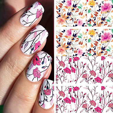 1 Pcs Full Nail Stickers Foil Sticker Water Transfer Art Manicure Pedicure Smooth