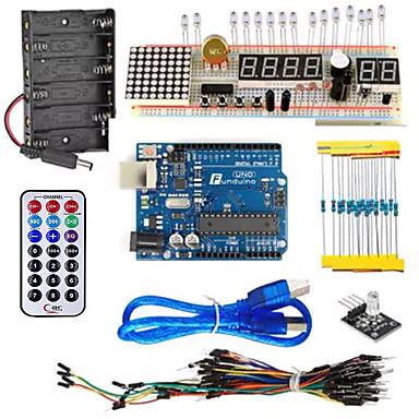 kt003 egy indító készlet kenyérlemezzel / érzékelővel / ledlámpával arduino diy részekre
