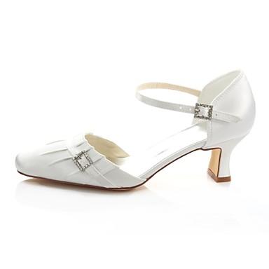 06425736 Escarpin Bout Mariage Femme Eté Carré Chaussures Satin wId116qx