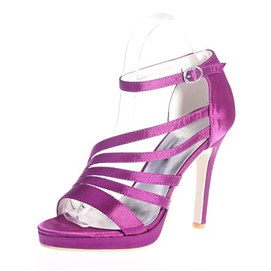 Sandales Femme Rouge Eté Talon Aiguille Chaussures Argent Ivoire Basique 06416528 Escarpin Boucle ouvert Bout Printemps Satin Mariage wqqYtO
