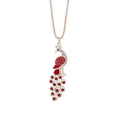 abordables Collier-Collier Pendentif Collier Chaîne Femme Paon dames simple Mignon Rouge Rose Colliers Tendance Bijoux 1 pour Cadeau Sortie Irrégulier