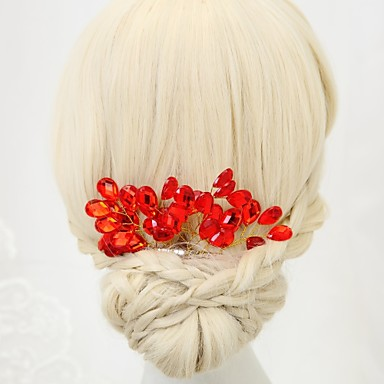 Kryształ górski / Stop Grzebienie do włosów z 1 szt. Ślub / Specjalne okazje Winieta