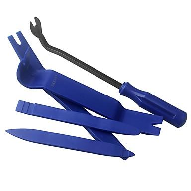 billige Verktøy til bil-ziqiao 5 stk bilmonteringsverktøy verktøy kits bil kjøretøy lyd instrumentbrett demontering dørpanel fjerning installatør pry verktøy