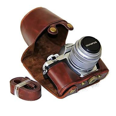 ieftine Cameră Foto, Fotografie & Video-dengpin® PU aparat de fotografiat din piele caz acoperire sac, cu curea de umăr pentru olympus e-m10 mark ii em10 Mark2 (culori asortate)