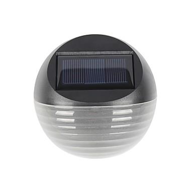 billige Utendørsbelysning-1pc varm / kul hvit farge 6led sollys solenergi drevet gjerde lampe halvcirkel hage plen veggen lys