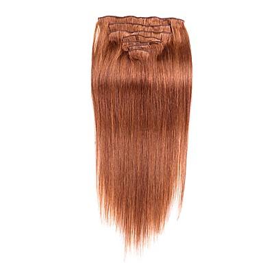 voordelige Extensions van echt haar-Febay Clip-in Extensions van echt haar Klassiek Echt haar Extentions van mensenhaar 1 Bundel Dames Medium Brown / Bleached Blonde