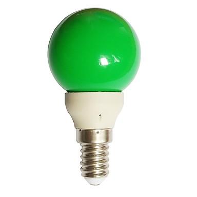 billige Elpærer-1pc 0.5 W LED-globepærer 15-25 lm E14 G45 7 LED perler Dyp Led Dekorativ Grønn 100-240 V / RoHs