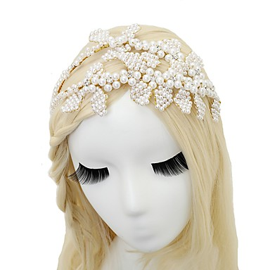 Imitacja pereł Opaski na głowę z 1 szt. Ślub / Specjalne okazje Winieta