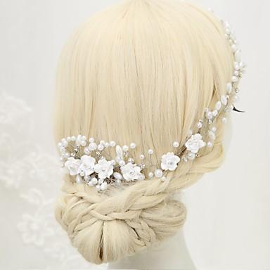 Imitacja pereł Kryształ górski Stop Grzebienie do włosów 1szt Ślub Specjalne okazje Winieta