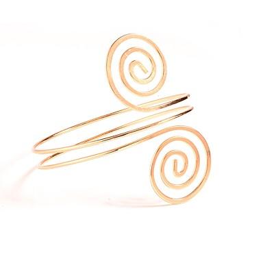 رخيصةأون مجوهرات-نسائي مجوهرات الجسم Armbånd ذهبي / فضي Circle Shape عبارة / سيدات / بسيط سبيكة مجوهرات من أجل مناسب للبس اليومي 9.0*9.0*8.2 cm الصيف