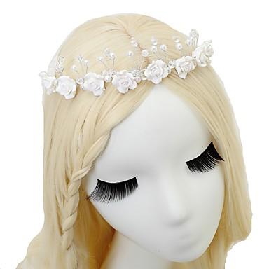 Kryształ / Sztuczna perła Opaski na głowę z 1 szt. Ślub / Specjalne okazje Winieta