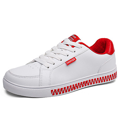 בגדי ריקוד גברים נעליים PU אביב / סתיו נוחות נעלי ספורט ורוד ולבן / שחור לבן / לבן וירוק