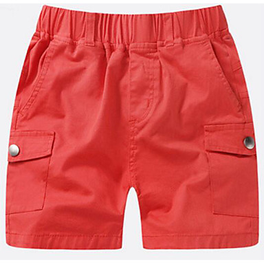 baratos Calças para Meninos-Infantil Para Meninos Sólido Shorts Verde