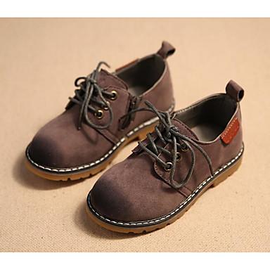 בנים נעליים עור נובוק אביב נוחות נעלי אוקספורד ל אפור / Wine / חום כהה