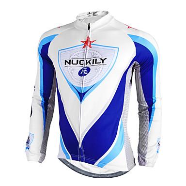 Nuckily Biciklistička majica Muškarci Dugih rukava Bicikl Biciklistička majica Majice Zima Odjeća za vožnju biciklom Vodootporno Ugrijati
