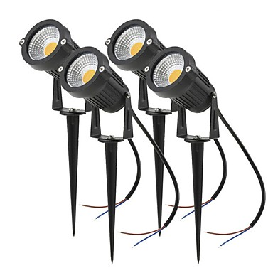 billige Utendørsbelysning-4stk 4 W LED-lyskastere / plen Lights Vanntett / Nytt Design / Dekorativ Varm hvit / Kjølig hvit / Rød 85-265 V / 12 V Utendørsbelysning / Courtyard / Have 1 LED perler
