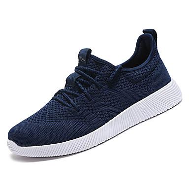 בגדי ריקוד גברים נעליים PU אביב / סתיו נוחות נעלי אתלטיקה הליכה שחור / כחול