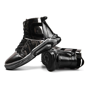 Men's Fashion Boots Flocking / Leather Sneakers Spring / Winter Comfort Sneakers Leather Booties / Ankle Boots Gold / Black 2e551c