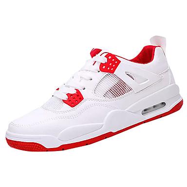 בגדי ריקוד גברים נעליים PU אביב / סתיו סוליות מוארות נעלי אתלטיקה לבן / אדום / כחול / ריצה