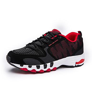 בגדי ריקוד גברים טול אביב / סתיו נוחות נעלי אתלטיקה ריצה שחור אדום / שחור / כחול
