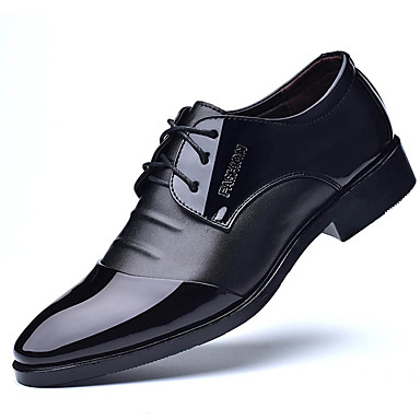 Hombre Zapatos formales PU Primavera / Verano Negocios Oxfords Negro / Marrón