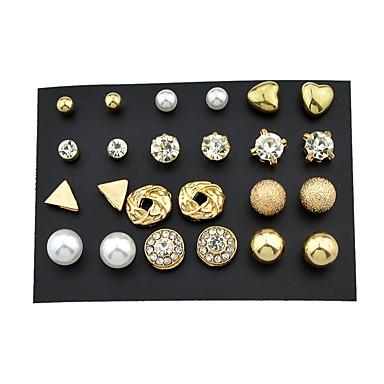 בגדי ריקוד נשים עגילים צמודים חפתים אוזן - בסיסי, רוק זהב עבור יומי פגישה (דייט) / 24pcs