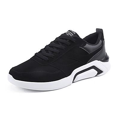 בגדי ריקוד גברים נעלי נוחות עור נובוק / דמוי עור / PU אביב נעלי אתלטיקה קולור בלוק שחור / אפור / שחור לבן / ריצה