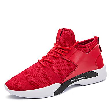 בגדי ריקוד גברים נעלי נוחות טול אביב / סתיו נעלי אתלטיקה ריצה לבן / שחור / אדום