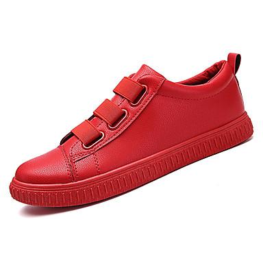 בגדי ריקוד גברים גומי אביב / סתיו נוחות נעלי ספורט שחור / אדום