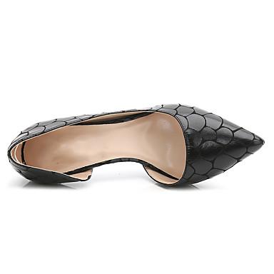 Chaussures pointu Habillé Basique Talon Printemps Gris Escarpin Aiguille Noir Chaussures Polyuréthane Automne Rouge Talons à 06506100 Bout ZASPRXx