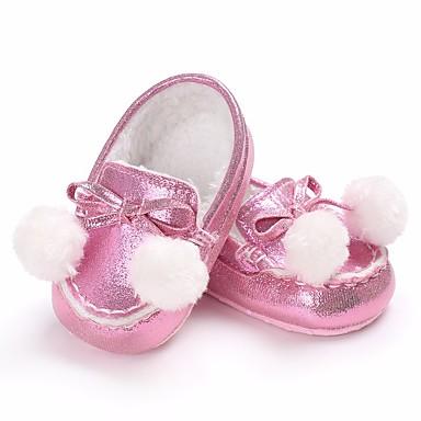 בנים / בנות נעליים PU אביב / סתיו נוחות נעליים ללא שרוכים ל כסף / אפרסק / חום
