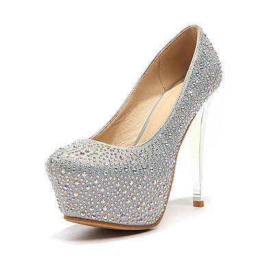 Zapatos de noche rojos Glitter Mujeres Tacones puntiagudos Stiletto Slip On Pumps 7pfkef