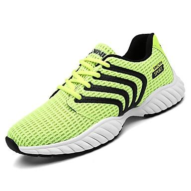 נעליים PU אביב סתיו נוחות נעלי אתלטיקה ל בָּחוּץ שחור אפור ירוק