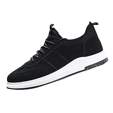בגדי ריקוד גברים גומי אביב / סתיו נוחות נעלי אתלטיקה לבן / שחור / אדום