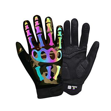 SPAKCT כפפות ספורט/ פעילות מחזיר אור / נושם / לביש על כל האצבע / כפפה למסך מגע ניילון / נאופרן רכיבה בכביש / רכיבה על אופניים / אופנייים / אופני הרים בגדי ריקוד גברים