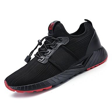 נעליים PU טול אביב סתיו נוחות נעלי אתלטיקה ל אתלטי קזו'אל שחור לבן שחור אדום שחור / ירוק