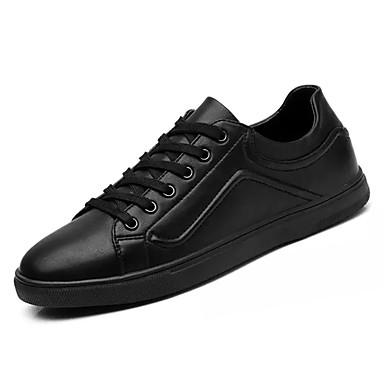 בגדי ריקוד גברים גומי אביב / סתיו נוחות נעלי ספורט לבן / שחור