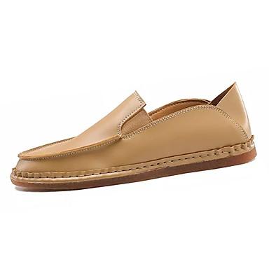 נעליים מיקרופייבר PU סינתטי PU דמוי עור אביב סתיו נוחות נעליים ללא שרוכים ל קזו'אל שחור כתום צהוב