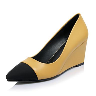 69f21c7b2e Women's Shoes Lycra / Fleece / Leatherette Spring / Summer Comfort Heels  Wedge Heel Black / Yellow / Dress