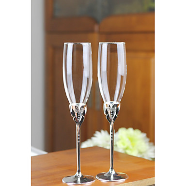 billige Sjampagneglass-Glass / Sinklegering Riste Fløyter Gaveeske Mennesker / Bryllup Alle årstider