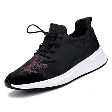 נעליים PU דמוי עור אביב סתיו נוחות נעלי אתלטיקה ל אתלטי קזו'אל שחור וזהב שחור וכסף שחור אדום