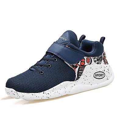 בגדי ריקוד גברים גומי אביב / סתיו נוחות נעלי אתלטיקה לבן / שחור / כחול כהה