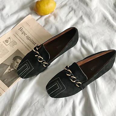Tacón Marrón Bailarinas Primavera Otoño Zapatos 06535699 Confort Mujer Plano Negro Goma gqA74naxw