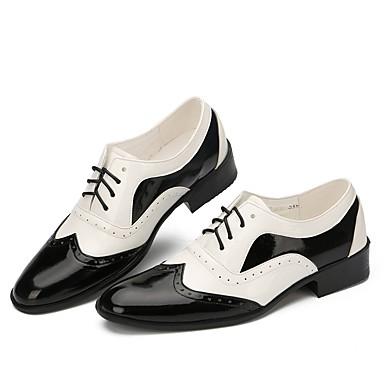 8ab9857e476 Χαμηλού Κόστους Ανδρικά παπούτσια χορού-Ανδρικά Παπούτσια για Swing  Λουστρίν Χωρίς Τακούνι Επίδοση Επίπεδο Τακούνι