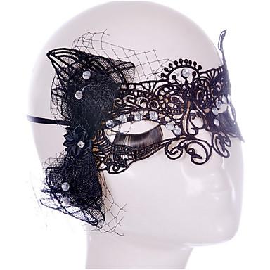 voordelige Maskers voor de feestdagen-Halloweenmaskers Strass Gevlochten Vezel Artistiek / Retro Klassiek Elegant & Luxe Tuin Thema Klassiek Thema Vakantie Sprookjes Thema Romantiek Volwassenen Jongens Meisjes