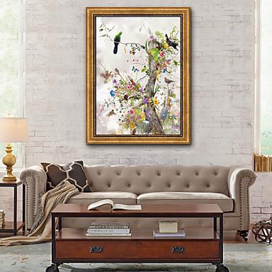 פרחוני/בוטני איור וול ארט,PVC חוֹמֶר עם מסגרת For קישוט הבית אמנות מסגרת סלון פנימי